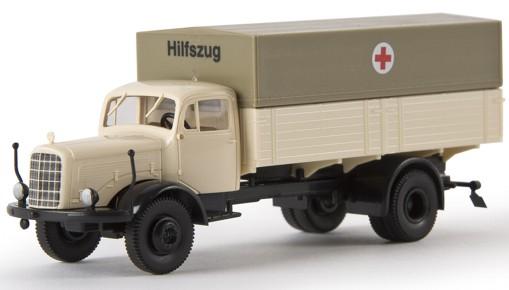 1//87 Brekina MAN 635 Möbelwagen DRK Blutspendedienst 57530